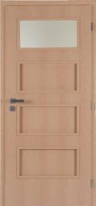 dveře Masonite laminované Dominant 1 sklo buk