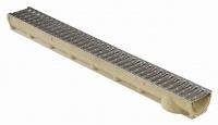 MEA odvodňovací žlab SELF LINE 100/80 s ocelovým roštem 1 m