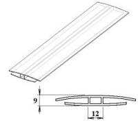 Polykarbonátový H-profil 6 mm UV stabilní