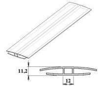 Polykarbonátový H-profil 8 mm UV stabilní