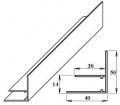 AL okrajový F-profil 10 mm