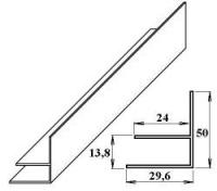 PVC okrajový F-profil 10 mm bílý