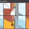 Začišťovací okenní lišta PS-VH použití