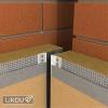Rohová dilatační lišta LD-LS použití