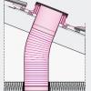 Fakro SFL-L tubusový světlovod s prosvětlením - průřez