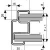 Ocelová zárubeň ZAKO S 75 detail profilu pro sádrokarton