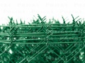 Čtyřhranné pletivo IDEAL PVC 25 m se zapleteným napínacím drátem, zelené