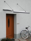 Gutta vchodová stříška Swing Glass 150x95 cm
