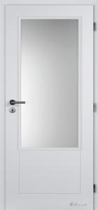 Hladké bílé dveře Masonite Dakota sklo