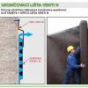 Gutta ukončovací lišta ventilační VENTI N - délka 2m