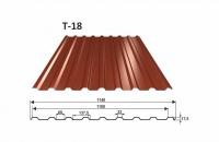 OMAK trapézový plech T 18 povrch PE mat