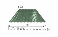 OMAK trapézový plech T 14 povrch PE lesk