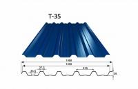 OMAK trapézový plech T-35 PE lesk 0,6 mm