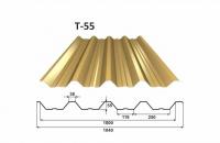 OMAK plechová střešní krytina trapéz T 55 PE lesk 0,7 mm