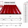 OMAK plechová střešní krytina BASIC PE MAT