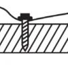 Správné umístění kotvících vrutů do žlábku