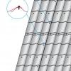 Správné rozmístění spojovacího materiálu u krytiny Omak Atractiv
