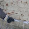 Vkládaní zmražených patron do zdiva