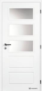 Hladké bílé dveře Masonite Oregon sklo