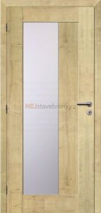 interiérové dveře VERTIGO 54 3D folie dub přírodní