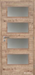 Masonite interiérové dveře Dominant SKLO laminát deluxe dub přírodní