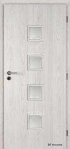 Masonite interiérové dveře QUADRA SKLO laminát deluxe