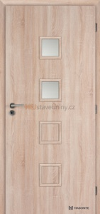 Masonite interiérové dveře kašírované QUADRA 2 dub sonoma