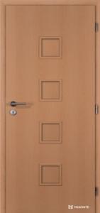 Jednokřídlé dveře Masonite Quadra plné kašírované buk