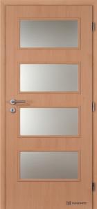 Masonite interiérové dveře DOMINANT SKLO laminát standart buk