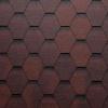 Onduline střešní asfaltový šindel Bardoline TOP hexagonal mix červená