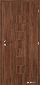 Masonite interiérové dveře QUADRA PLNÉ laminát standard ořech