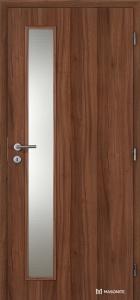 Masonite interiérové dveře VERTIKA SKLO laminát standard ořech