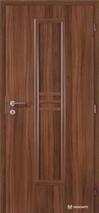 Masonite interiérové dveře STRIPE plné dvoukřídlé laminát standard ořech