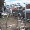 Zahradní skleník z polykarbonátu TRJOSKA konstrukce