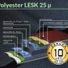 Řez plechu s povrchem Polyester LESK 25µm