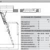 Schéma půdních schodů Fakro LWL Lux