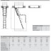 Schéma půdních schodů Fakro LML Lux