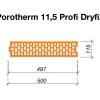 Rozměry broušená cihla POROTHERM 11,5 Profi DRYFIX