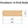 Rozměry broušená cihla POROTHERM 14 Profi DRYFIX