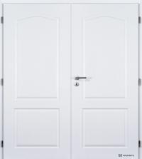Masonite dvoukřídlé dveře Claudius bílá pór