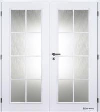 Dvoukřídlé dveře Masonite Elida bílá pór