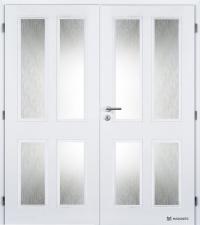 Dvoukřídlé dveře Masonite Hector bílá pór