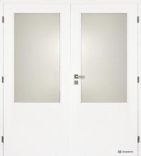 Dvoukřídlé dveře Masonite 2/3 sklo hladké bílé