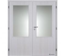Dvoukřídlé dveře Masonite 2/3 sklo