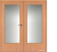 Dvoukřídlé dveře Masonite 3/4 sklo