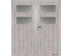Dvoukřídlé dveře Masonite Dominant 2 fólie dub šedý