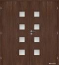 Masonite interiérové dveře kašírované GIGA sklo dvoukřídlé