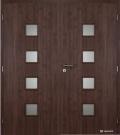 Masonite interiérové dveře kašírované QUADRA sklo dvoukřídlé