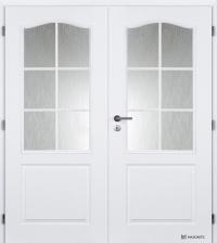 Dvoukřídlé dveře Masonite Socrates bílá pór