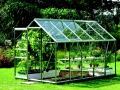 Lanitplast zahradní skleník VITAVIA VENUS (sklo 3 mm) stříbrný